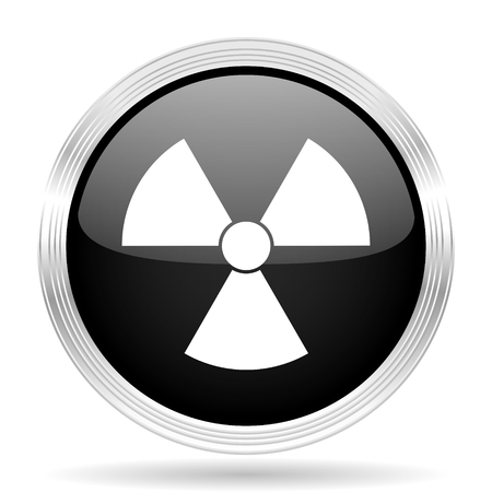 gamma radiation: radiation black metallic modern web design glossy circle icon