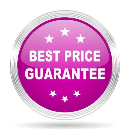 lowest: best price guarantee pink modern web design glossy circle icon