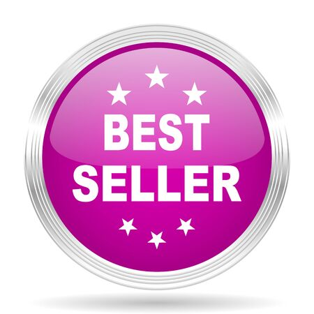 seller: best seller pink modern web design glossy circle icon