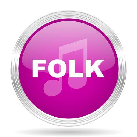 folk music: folk music pink modern web design glossy circle icon