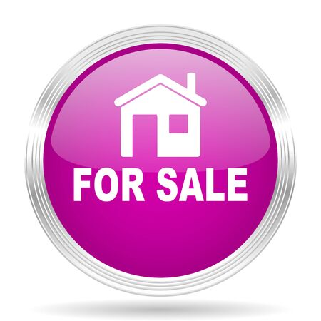 violet residential: for sale pink modern web design glossy circle icon