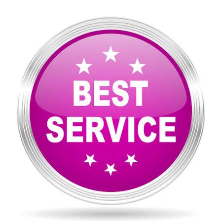best service: best service pink modern web design glossy circle icon