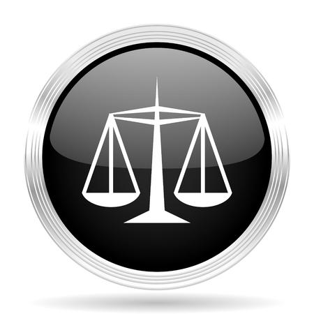 criminal act: justice black metallic modern web design glossy circle icon