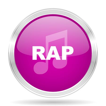 rap music: rap music pink modern web design glossy circle icon