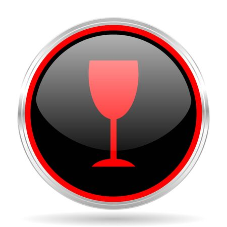 red metallic: alcohol  black and red metallic modern web design glossy circle icon