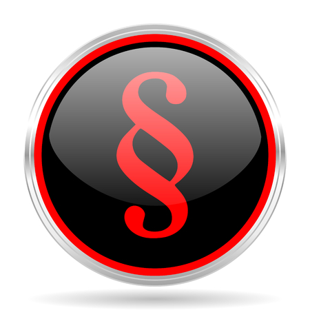 red metallic: paragraph black and red metallic modern web design glossy circle icon Stock Photo