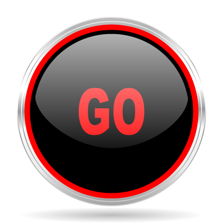 red metallic: go black and red metallic modern web design glossy circle icon