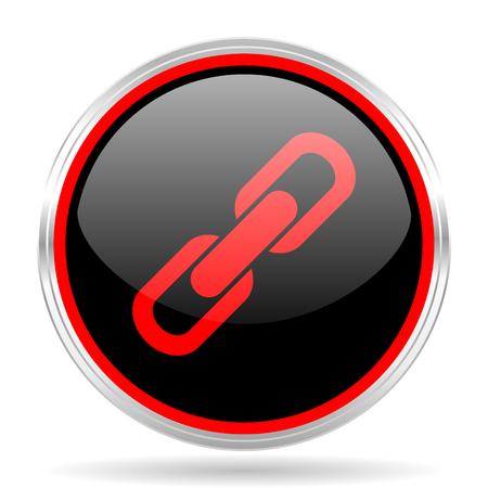 la union hace la fuerza: link black and red metallic modern web design glossy circle icon