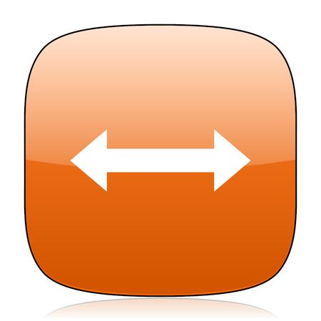 sterring: arrow orange square glossy web icon