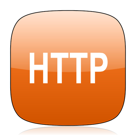 http: http orange square glossy web icon