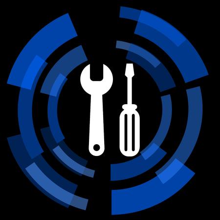 option key: tool black background simple web icon
