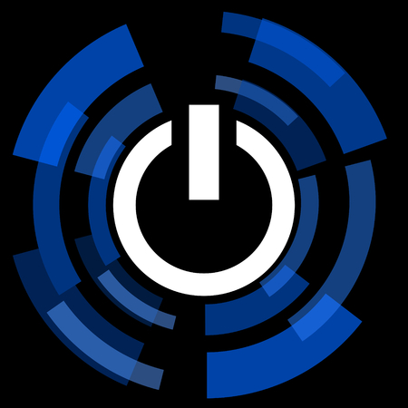 run off: power black background simple web icon