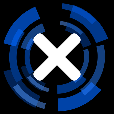 black button: cancel black background simple web icon Stock Photo