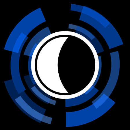 keys to heaven: moon black background simple web icon Stock Photo