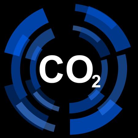 dioxido de carbono: el dióxido de carbono de fondo negro simple icono Web