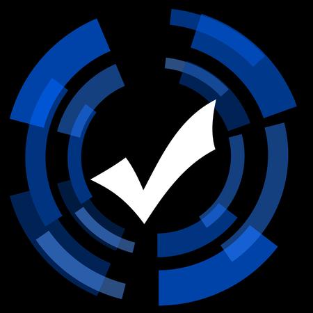 yea: accept black background simple web icon