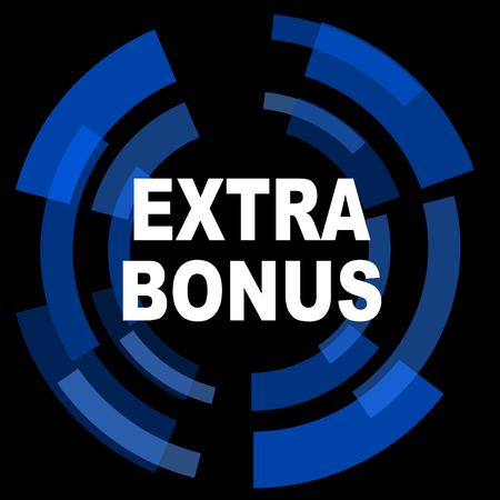 discounting: extra bonus black background simple web icon
