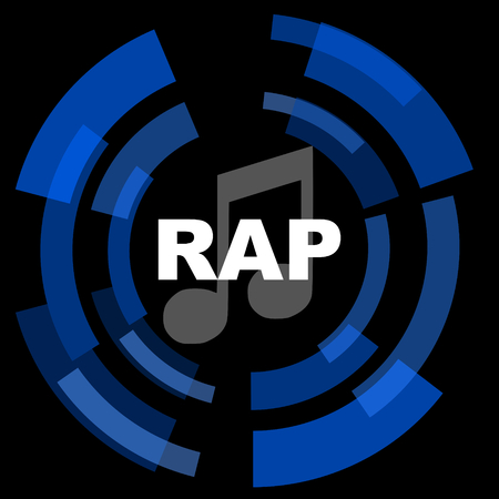 rap music: rap music black background simple web icon