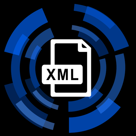 xml: xml file black background simple web icon
