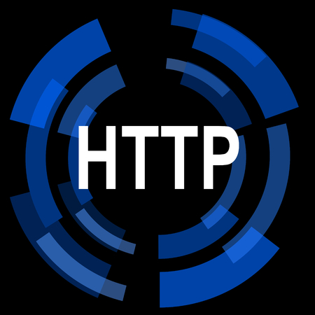 http: http black background simple web icon Stock Photo