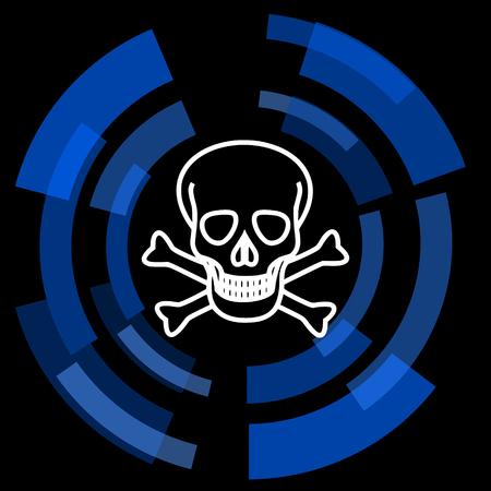 pirating: skull black background simple web icon