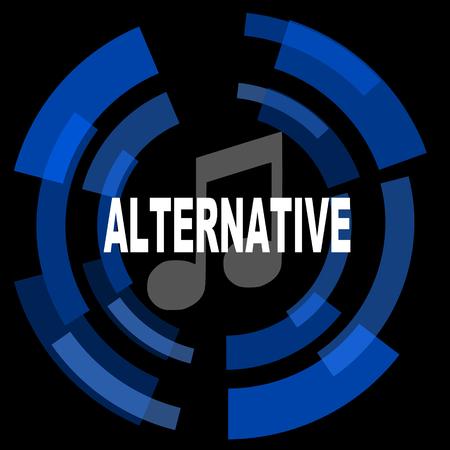 live stream sign: alternative music black background simple web icon Stock Photo