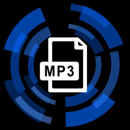 mp3: mp3 file black background simple web icon