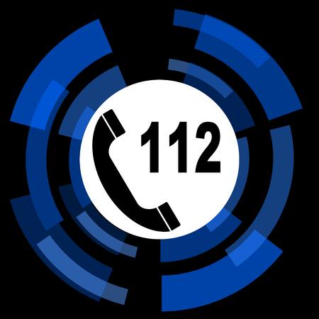 emergency call: emergency call black background simple web icon