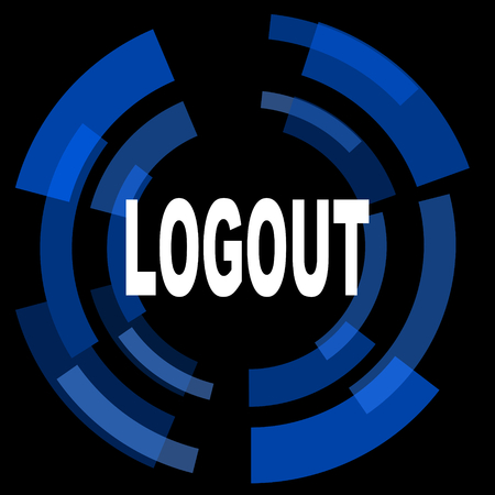 logout: logout black background simple web icon