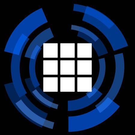 thumbnails: thumbnails grid black background simple web icon