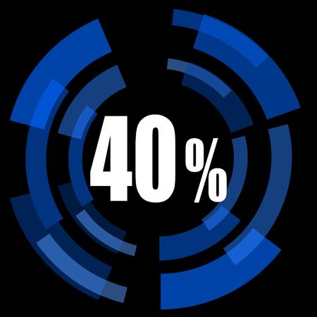 40: 40 percent black background simple web icon