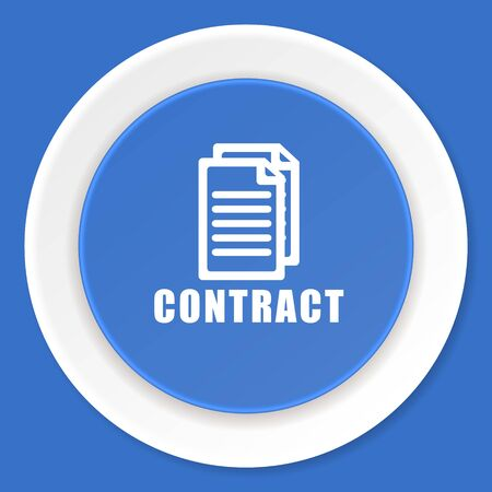 pact: contract blue flat design modern web icon Stock Photo