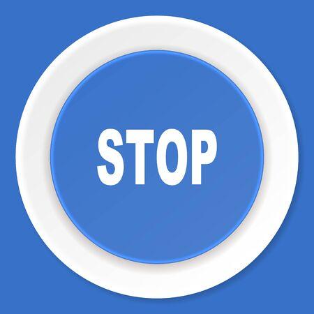 proscribed: stop blue flat design modern web icon