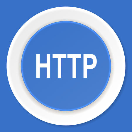 http: http blue flat design modern web icon Stock Photo