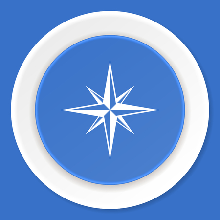 internet explorer: compass blue flat design modern web icon Stock Photo