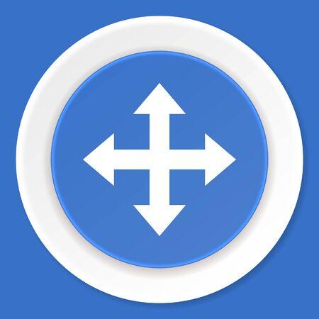 sterring: arrow blue flat design modern web icon
