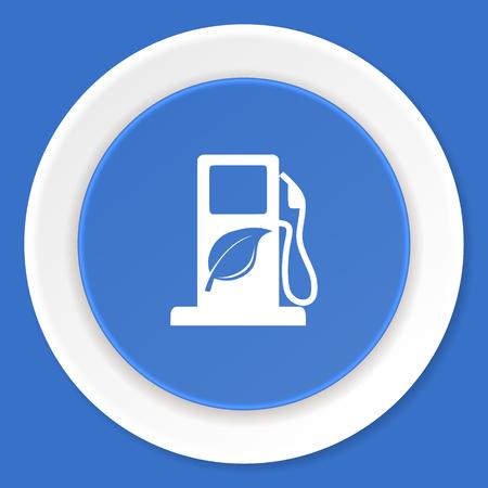 canola: biofuel blue flat design modern web icon