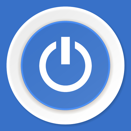 proceed: power blue flat design modern web icon