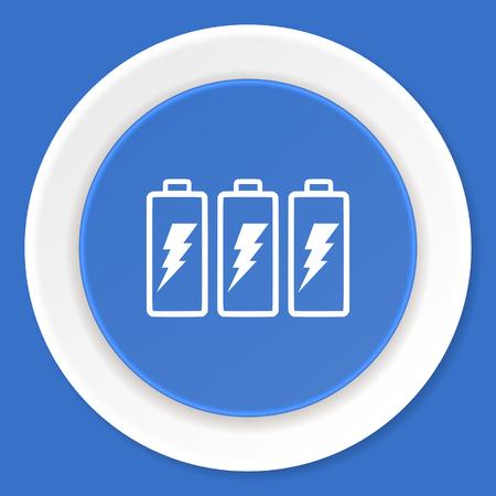 accuse: battery blue flat design modern web icon Stock Photo