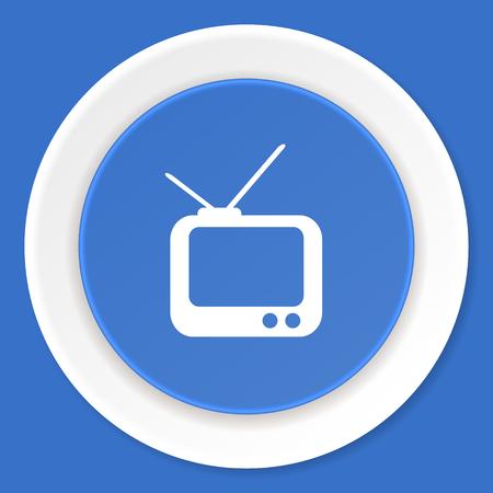 programm: tv blue flat design modern web icon