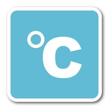 celcius: celsius blue square internet flat design icon