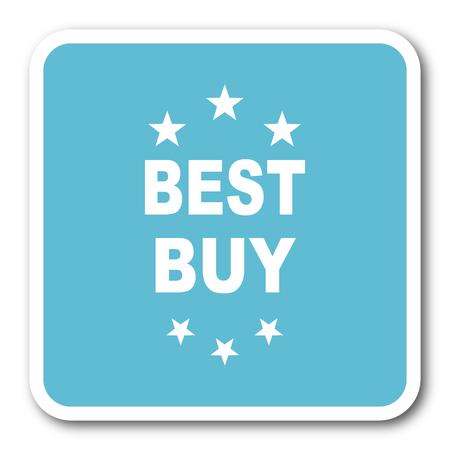 best buy: best buy blue square internet flat design icon