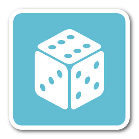 jack in the box: game blue square internet flat design icon