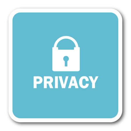 secret codes: privacy blue square internet flat design icon