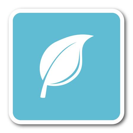 quality of life: nature blue square internet flat design icon Stock Photo