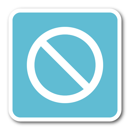 entrance is forbidden: access denied blue square internet flat design icon