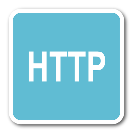 http: http blue square internet flat design icon