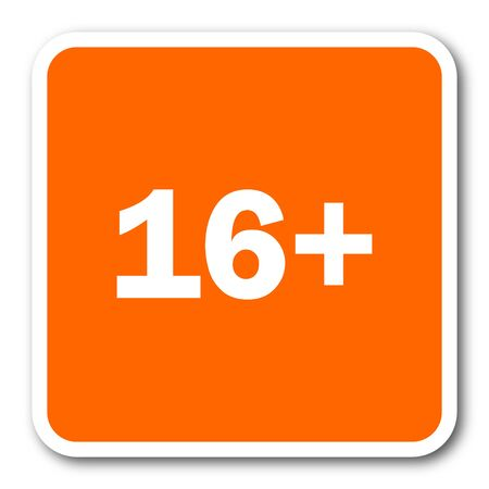 adult only: adults orange flat design modern web icon
