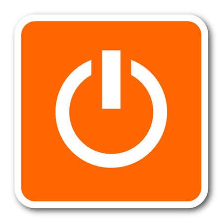 running off: power orange flat design modern web icon
