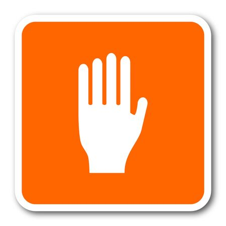 coachman: stop orange flat design modern web icon